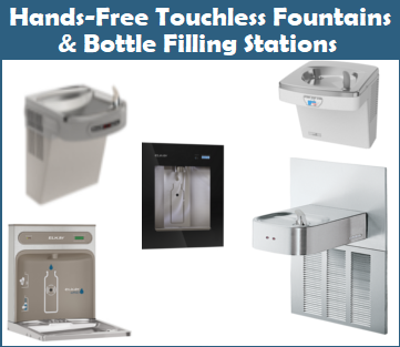Hands-Free Touchless Drinking Fountains and Bottle Filling Stations